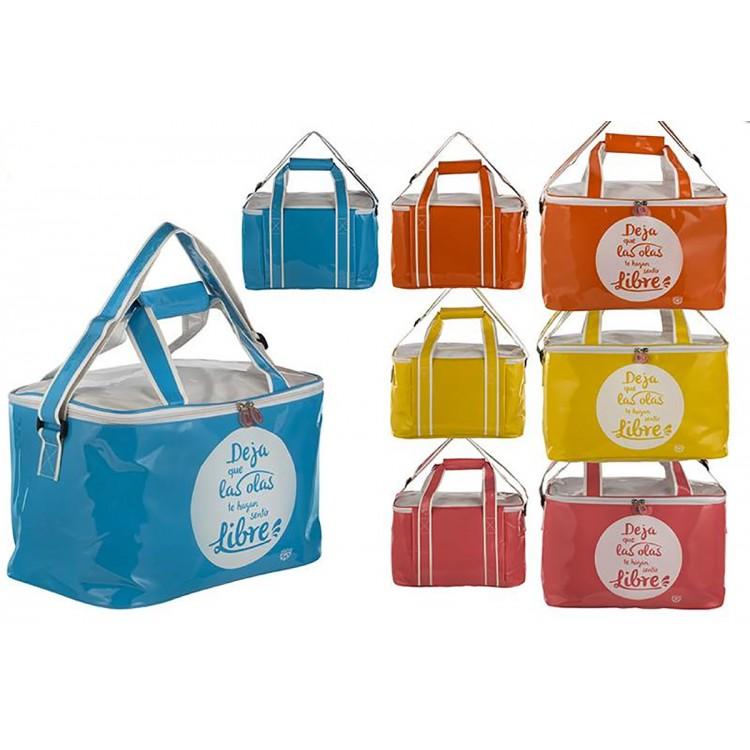 Bolsa Nevera de Playa con Asas y Cremallera Cuatro Colores Hogar y Más