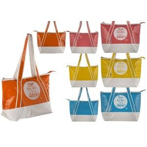 Cooler bag Beach with carry Handle and Large Zip Four Colors, Home and More