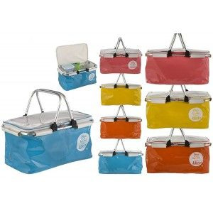 Basket Fridge Beach with Handles of Aluminum-Four Colors-Home and More