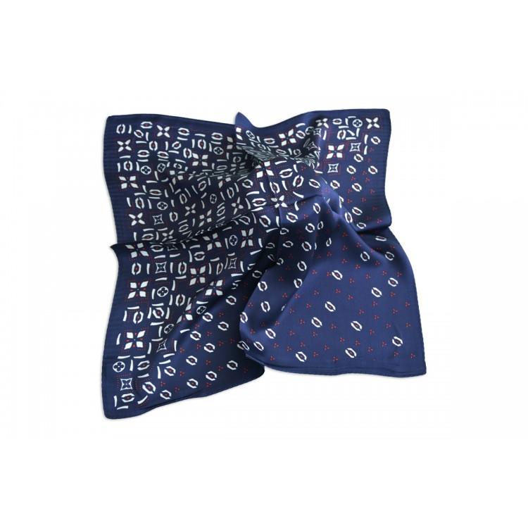 Pañuelo  de seda 100% natural, modelo Hades marino, de Hogar y Mas