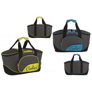 Cooler bag Beach for Food and Drinks with carry Handle and Zips Two Colors