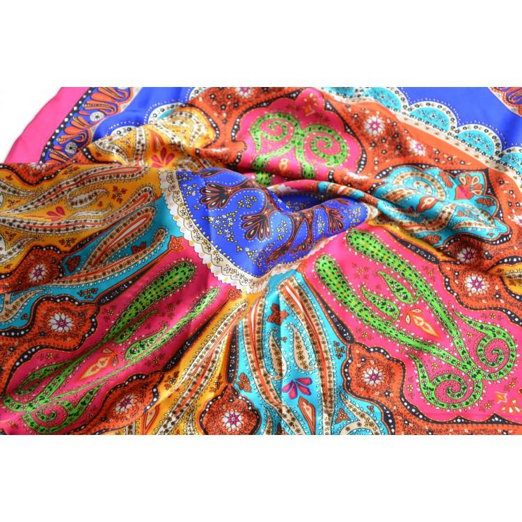 Pañuelo  de seda 100% natural, modelo coral rosa, de Hogar y Mas