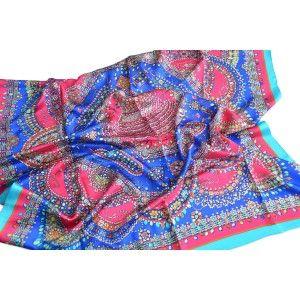 Pañuelo  de seda 100% natural, modelo joya, de Hogar y Mas
