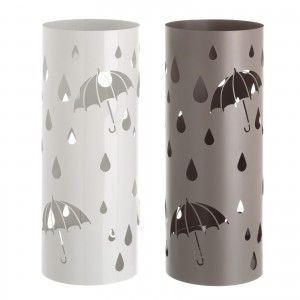 Umbrella stand Metal Round Modern Design in Two Colours, Home and More