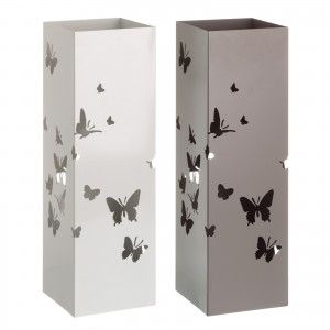 Umbrella stand Metal Modern Design Butterflies Two Colours, Home and More