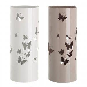 Paragüero Metálico Diseño Mariposas Acabado Brillante Dos Colores Hogar y Más