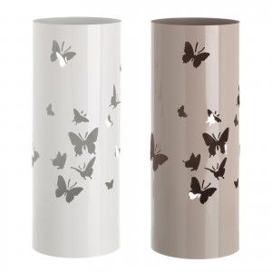 Umbrella stand Metal Design Butterfly Gloss Finish Two Colours, Home and More