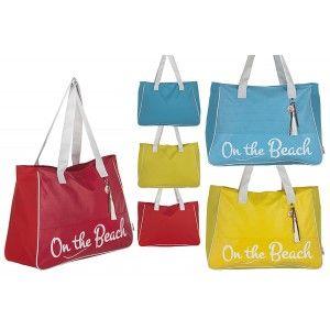 Bolsa de Playa con Asa Diseño Original Tres Colores Beach Hogar y Más
