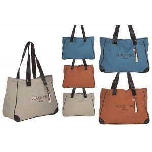 Bolsa de Playa con Asa Elegante Diseño Original Tres Colores Hogar y Más