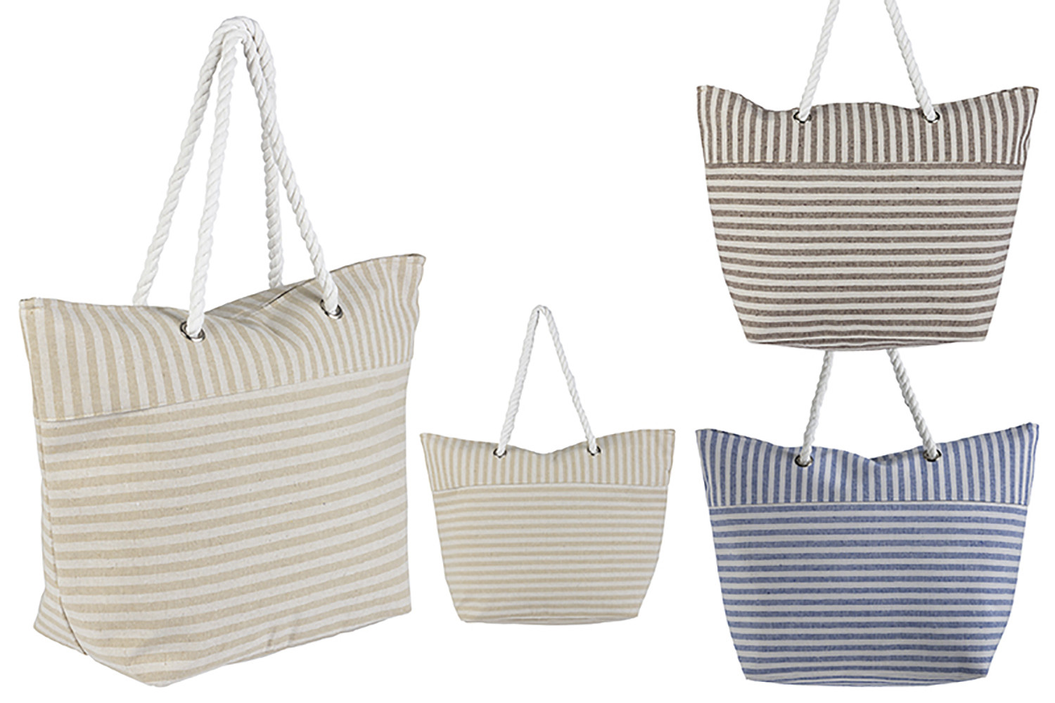 Beach bag with Handle, Striped Design Original Three Colors, Home and More