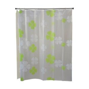 Bath curtain Shower Fabric of Peva Design Flowers, Home and More