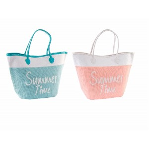 Bag Beach of Cotton and Natural Fiber Two Colors, Home and More