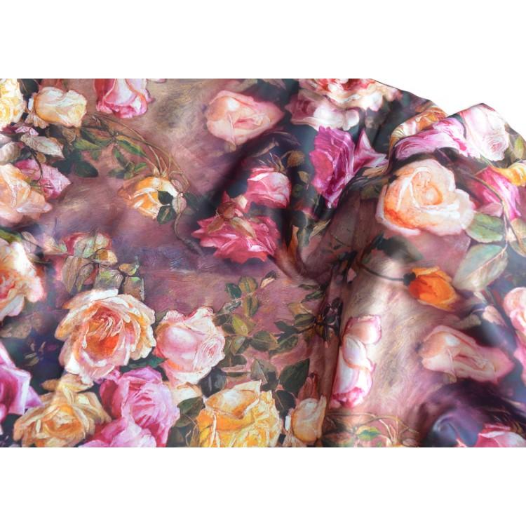 Pañuelo  de seda 100% natural, con dos caras y  flecos, modelo clásico multicolor , colección otoño-invierno,  de Hogar y MasSpe