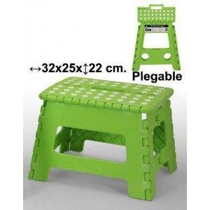 Taburete plegable verde