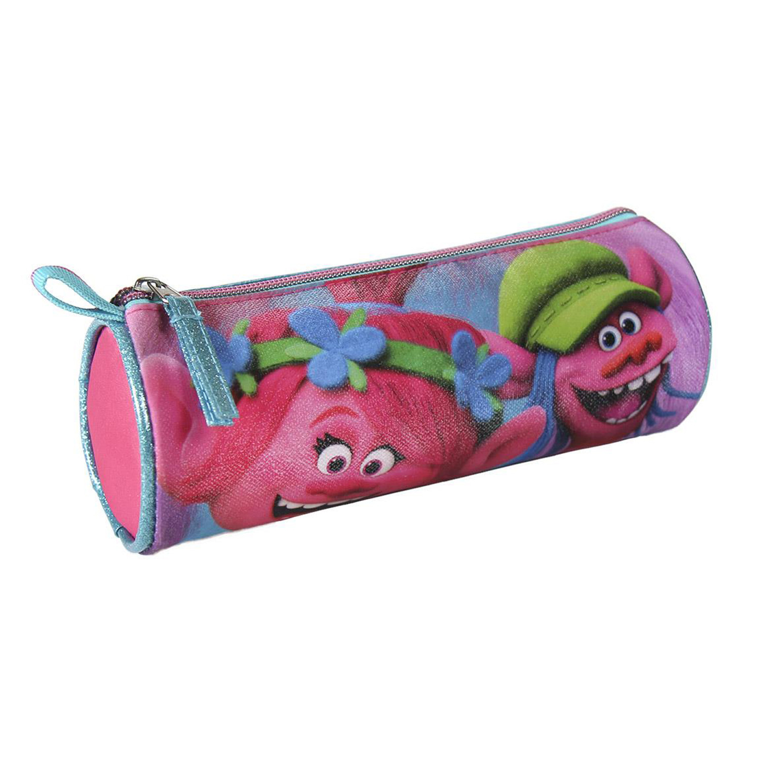 Case Cylindrical pencil case of Trolls Original Home and More