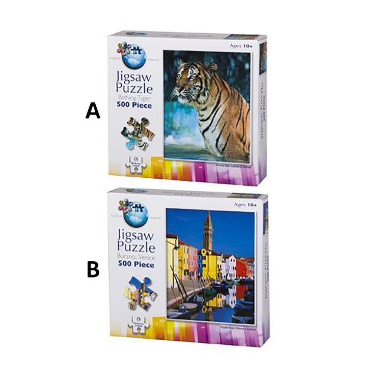 Puzzle de Tigre y Venecia 500 Piezas Original Jigsaw Dos Modelos Hogar y Más
