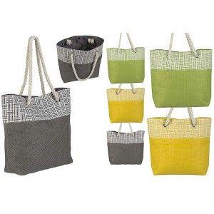 Bolsa de Playa con Asa Diseño Moderno Original Tres Colores Hogar y Más