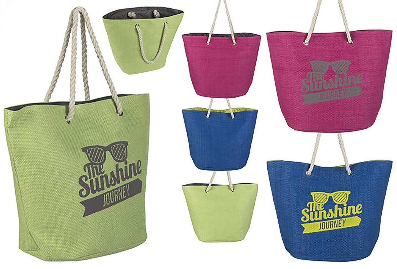 Bolsa de Playa con Asa Diseño Original Tres Colores Hogar y Más
