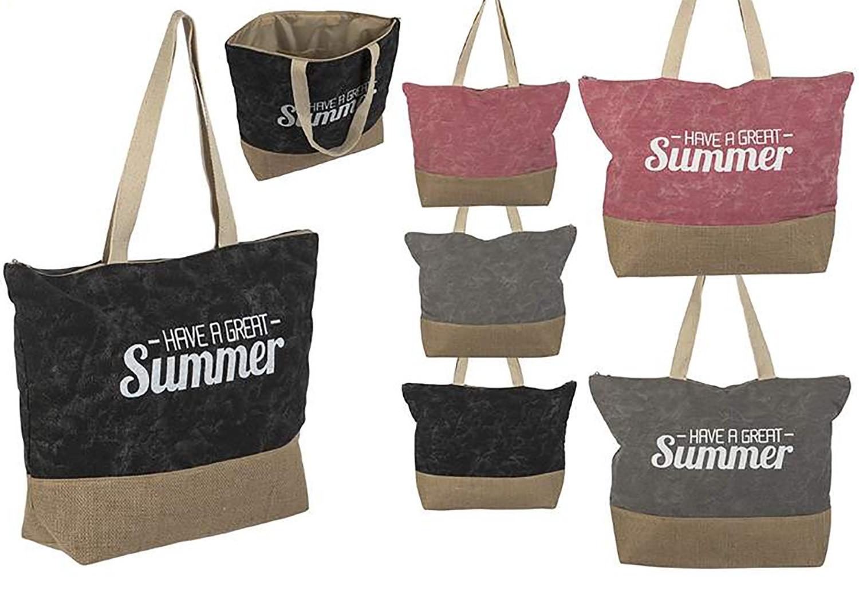 Bolsa de Playa con Asa Diseño Summer Tres Colores Hogar y Más