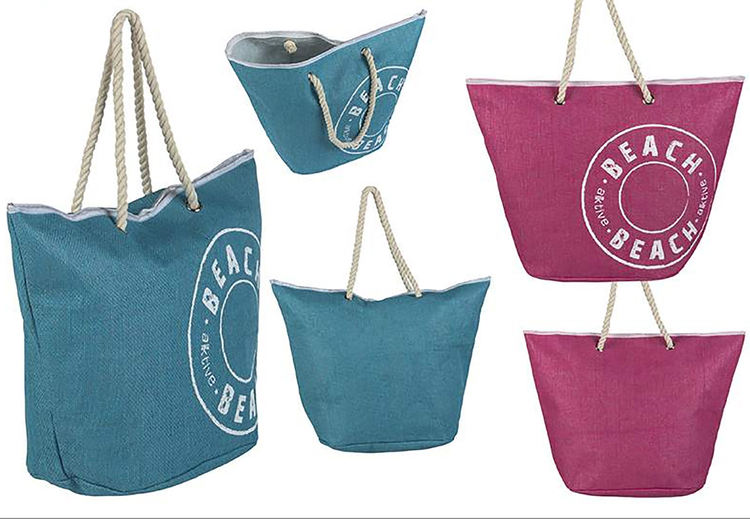 Beach bag with Handle Design Vintage Two-Color Home and More