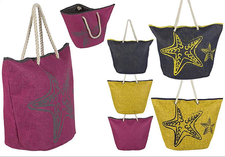 Bolsa de Playa con Asa Estrella de Mar tres Colores Hogar y Más