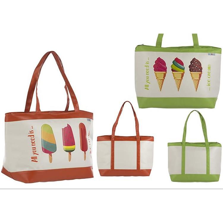 Bolsa Térmica de Playa con Asa y Cremallera Helados Dos Colores Hogar y Más