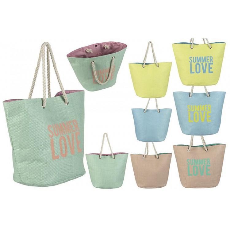 Bolsa de playa con diseño original Summer love Hogar y mas
