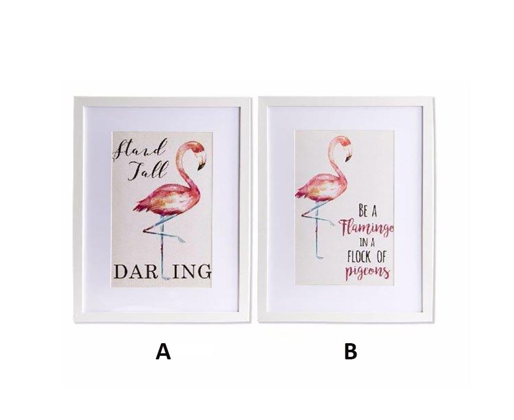 Box decorative PVC colour: off-white with flamingos Original Home and more