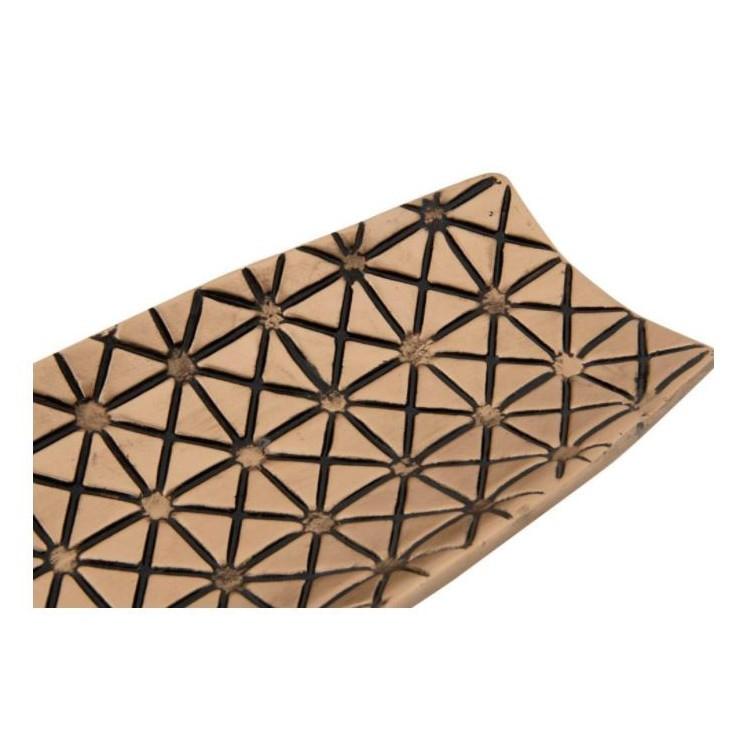 Bandeja en forma de canoa Diseño étnico y natural. Hogar y mas