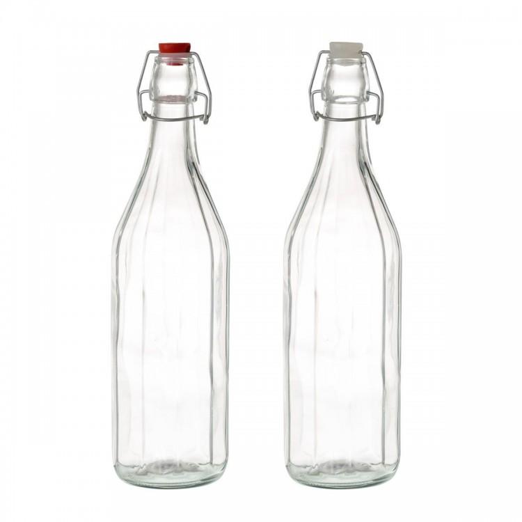 Botella de cristal 1L Modelo clásico Hogar y mas