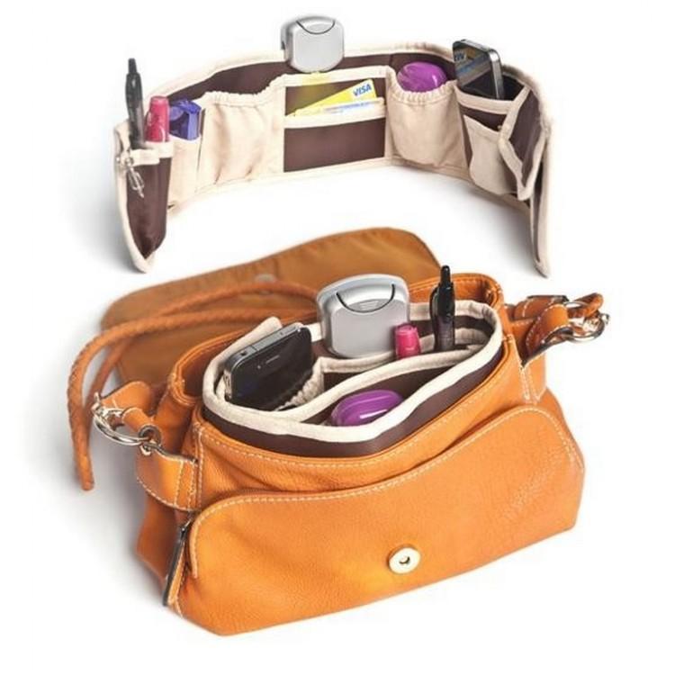 Organizador para bolsos marrón