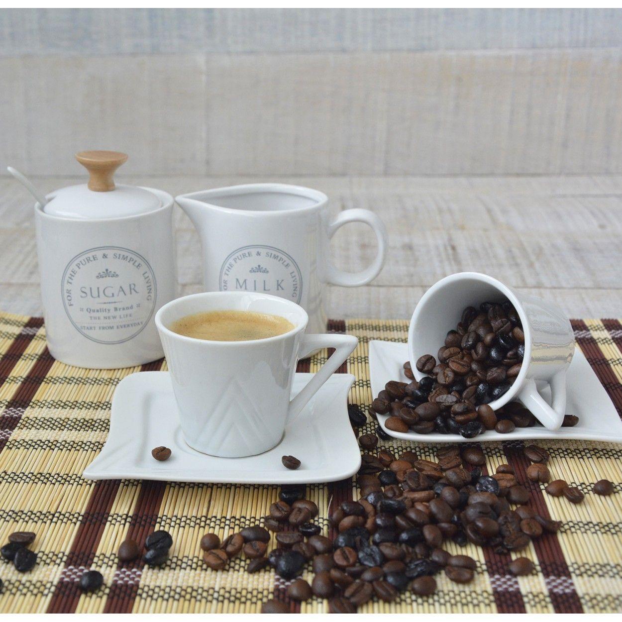 Juego de caf de edici n we love de 6 tazas y 6 platos 100cc cer mica hogar y mas hogar y m s - Tazas de cafe de diseno ...