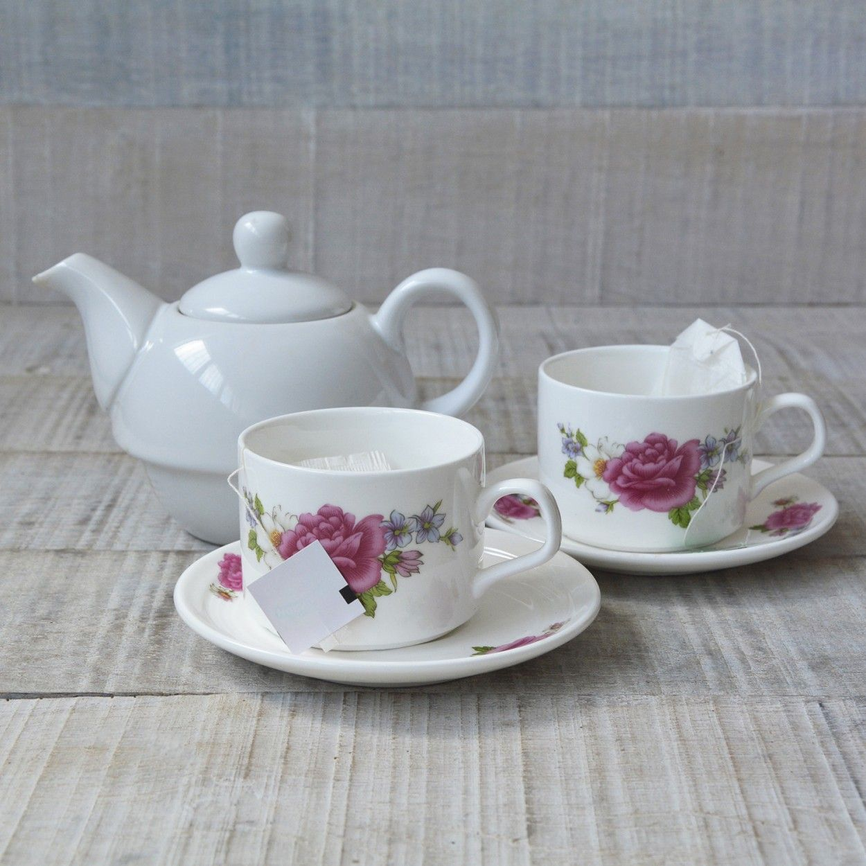 Juego de 6 tazas y platos de caf modelo rosas hogar y m s for Juego tazas cafe