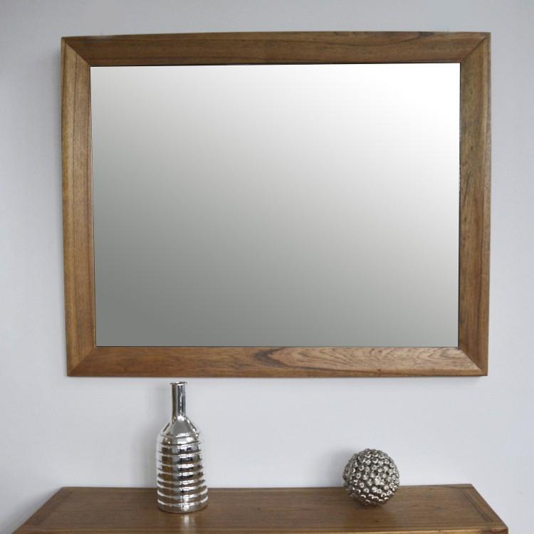 Espejo Málaga de madera. Diseño Robusto y artesano. Hogar y mas.