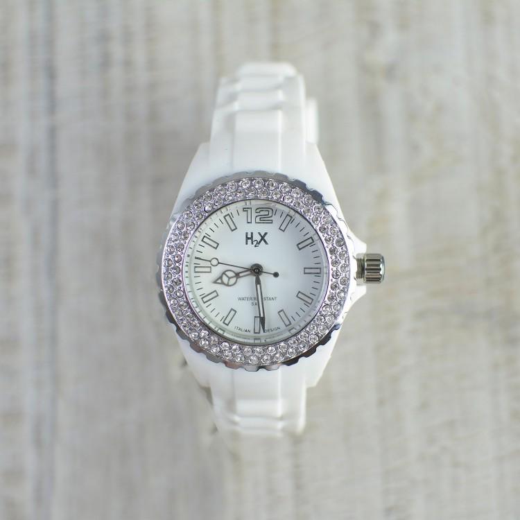 Reloj de Pulsera Color Blanco H2X Femenino Stone Lady Hogar y Más