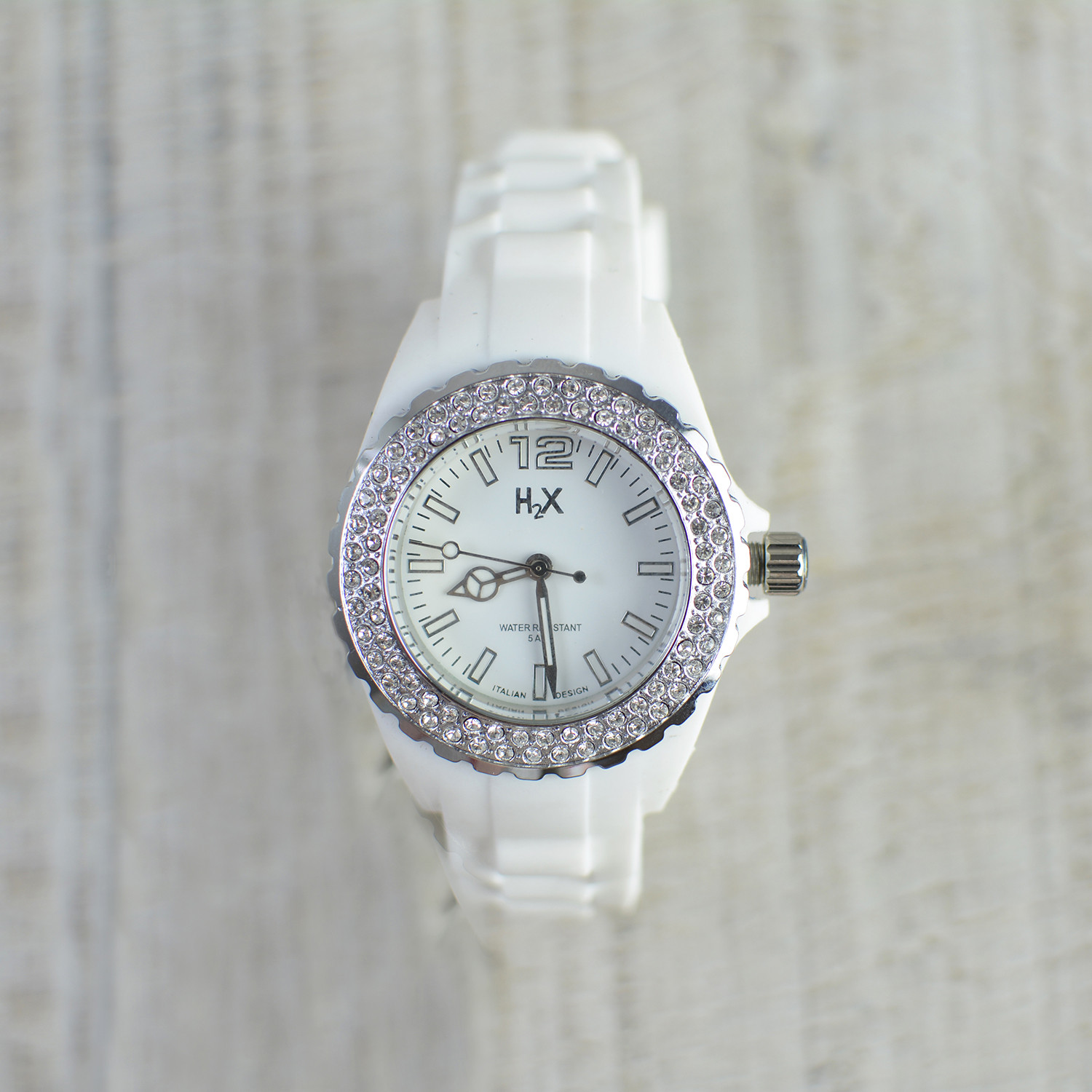 Wrist watch Color White H2X Women Stone Lady Home and More