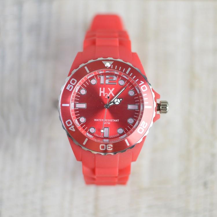 Reloj de Pulsera Rojo H2X Unisex Hogar y Más