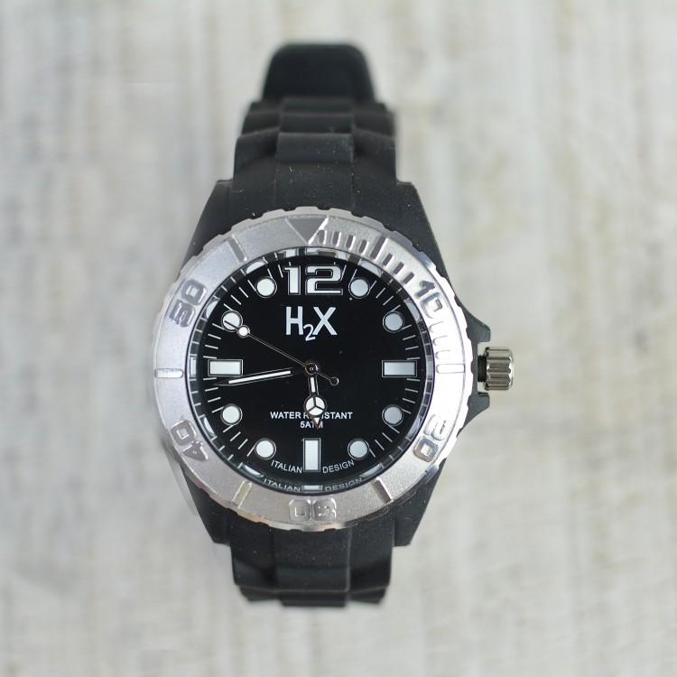 Reloj de Pulsera Negro H2X Unisex Hogar y Más