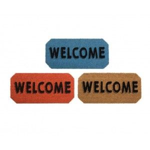 Doormat of coconut fiber - Model Welcome 70x33cm 3 colors, Home and more