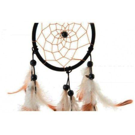 Atrapasueños colgante de madera y plumas para decoración. Modelo Tribal. Hogar y mas.