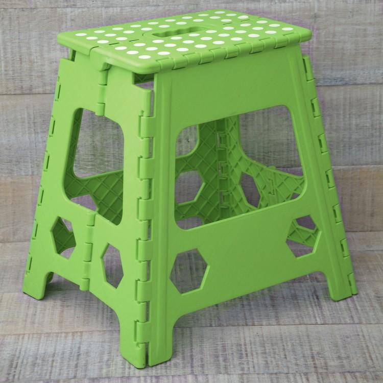 Taburete Plegable Robusto en PVC Verde