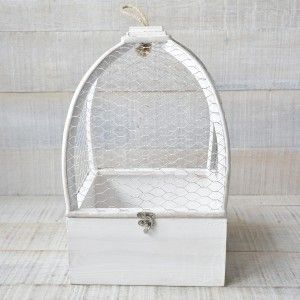 Cage Natural Wood Original White for Decoration Two Game Drives