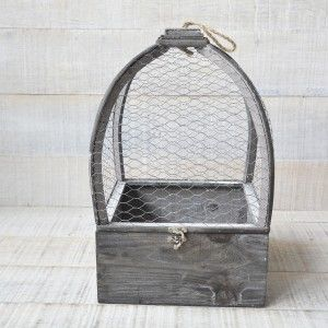 Cage Natural Wood Original Decoration Game, Two Units
