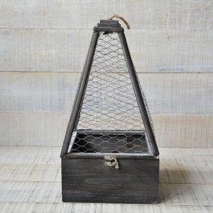 Jaulas para Decoración en Madera Natural Diseño Original Juego 3 Unidades