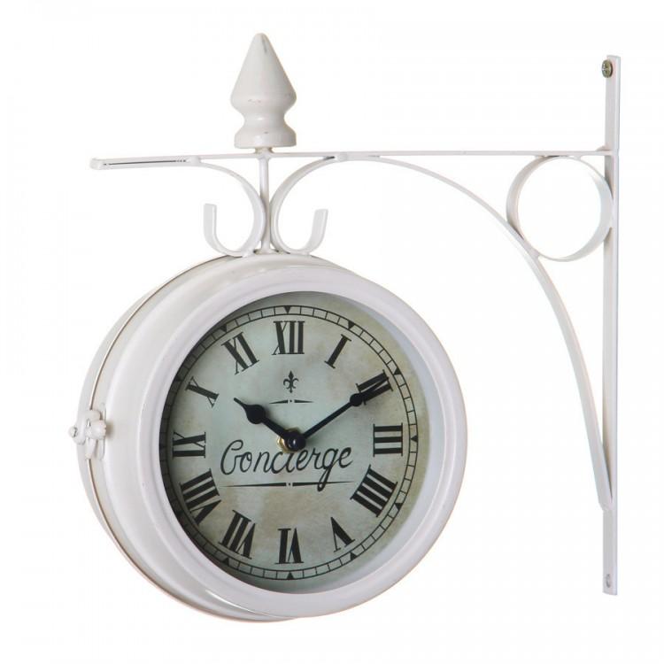 Reloj Estación Blanco de Metal Edición Vintage Hogar y más