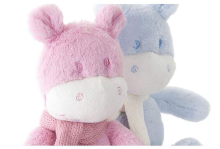 Manta con hipopotamo de peluche. Productos infantiles. Hogar y más