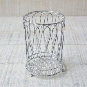 Cubertero de metal cromado práctico y moderno para organización diseño Industrial - Hogar y Más