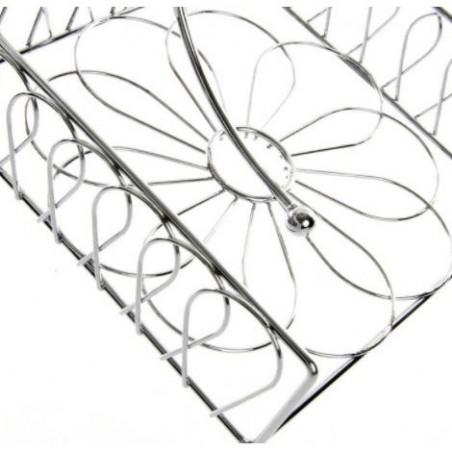 Servilletero de metal cromado. Diseño industrial. Hogar y más