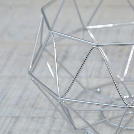 Frutero en Metal cromado. Diseño industrial. Hogar y más
