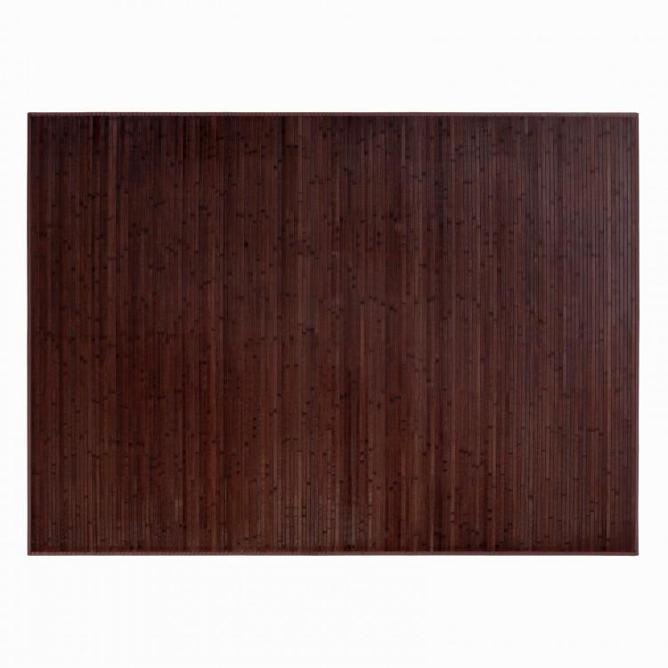 Alfombra marrón de madera de Bambú Natural práctica. Hogar y Más